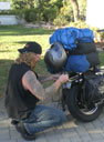 Rob Dale, Cross Country Motorcycle Trip